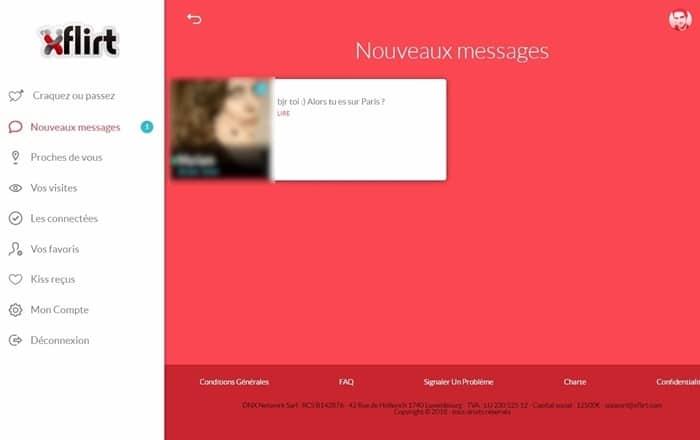 Page de Messagerie