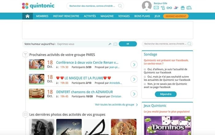 site Quintonic accueil