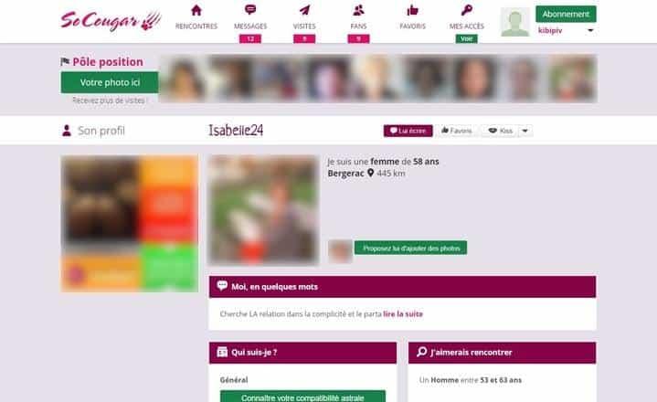 Exemple de profil femme cougar