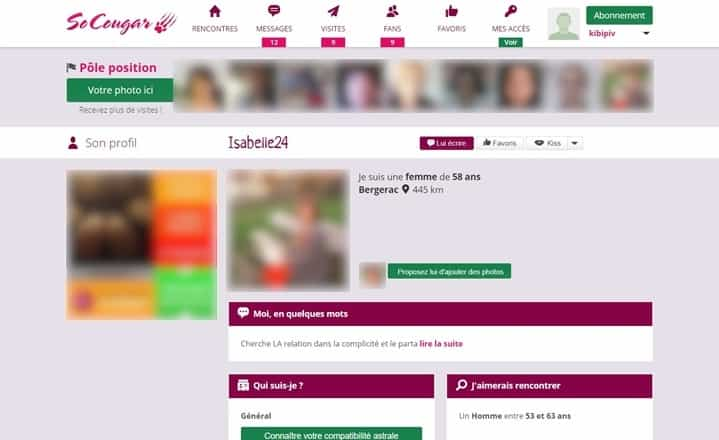 Exemple de profils de femmes